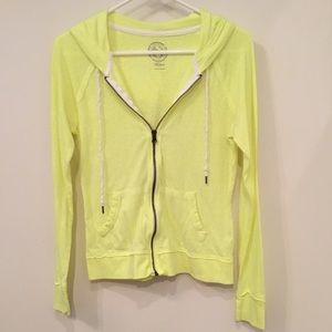 SO Neon Yellow Zip-Up Hoodie